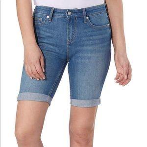 New Calvin Klein blue tulip Bermuda shorts